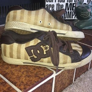 [4/$20] Gold DC Skate Shoes
